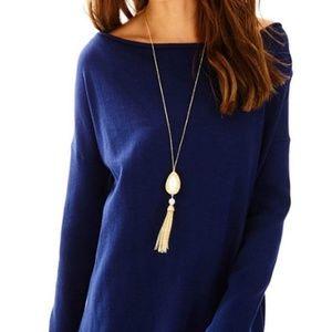 Lilly Pulitzer Ferrera Sweater Coolmax Navy Medium